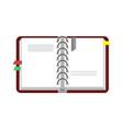 open notebook binder vector image