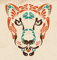 panther tattoo symbol decoration vector image vector image