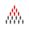 people silhouette in form pyramid financial vector image vector image