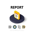 Report icon in different style vector image vector image
