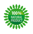 Round logo for organic food vector image vector image