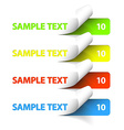 Sample stickers vector image vector image