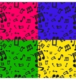 Seamless Musical Notes Pattern vector image vector image