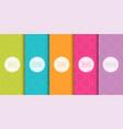 set colorful geometric seamless ornamental vector image vector image