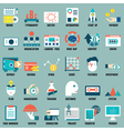 set flat business commerce service icons vector image