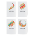 Set of design elements for business card template vector image vector image