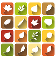 Set of square autumn icons vector image vector image