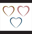 set of three hearts in lithuanian latvian vector image