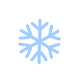 Snowflake icon blue silhouette snow flake sign