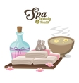 spa beauty and health with water bowl flower vector image