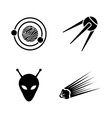 space simple related icons vector image vector image