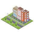 suburbia buildings concept vector image vector image