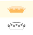 tart and pie icon in flat design and outline vector image vector image