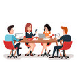 team meeting business team work together office vector image vector image
