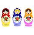 Traditional russian matryoshka vector image