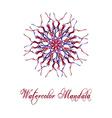 Watercolor Mandala2 vector image vector image