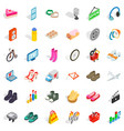 website icons set isometric style vector image vector image