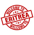 welcome to eritrea red stamp vector image vector image