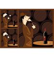 wine tasting vector image vector image