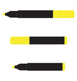 Yellow marker set vector image vector image