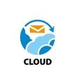 logo cloud vector image