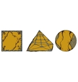 Ornamental geometric shapes circle square pyramid vector image