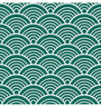 Green White Traditional Wave Japanese Chinese vector image