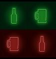 neon beer sign vector image