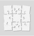 9 scattered piece puzzle rectangle banner puzzle vector image