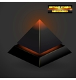 abstract black 3d pyramid vector image