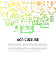 agriculture line concept vector image vector image