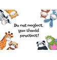animals in medicine masks vector image vector image