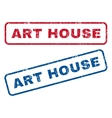 Art House Rubber Stamps vector image vector image