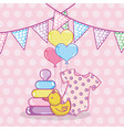 baby shower cartoons vector image