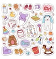Baby stickers badge vector image vector image