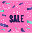 Big sale pink banner template design seasonal