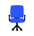 blue chair icon vector image
