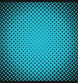 blue geometric halftone pattern background from vector image vector image