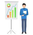 board statistical data information color graphs vector image vector image