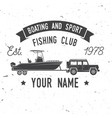 boating and sport fishing club vector image vector image