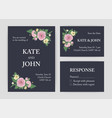 bundle beautiful wedding invitation save the vector image vector image