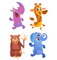 cartoon animals set set vector image