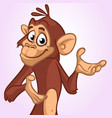 cartoon monkey smiling and laughing vector image