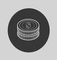 coin icon vector image