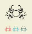 Crab decor vector image vector image