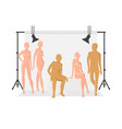 creative character design people posing vector image
