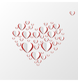 Creative paper heart vector image