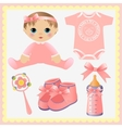 Cute collection of baby design elements vector | Price: 1 Credit (USD $1)