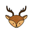 cute deer head wild animal vector image