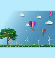 eco friendly and environment conservation concept vector image vector image